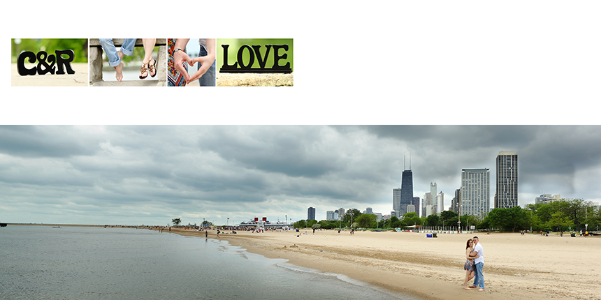 Chicago. Beach Engagement photography