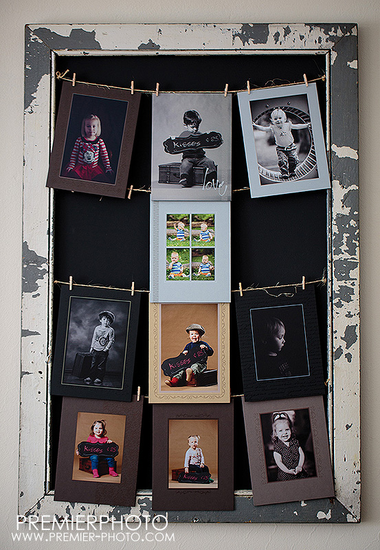 DIY picture frame with reclaimed wood