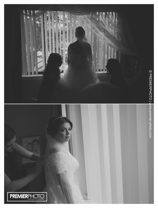 Moody images of bride getting ready