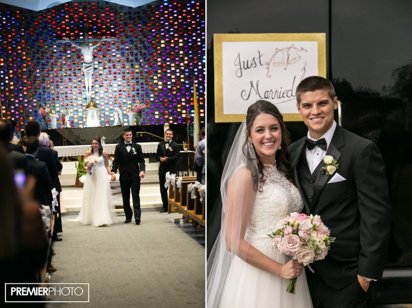 Just Married! Saints Peter and Paul Catholic Church - Cary, IL. Premier Photo