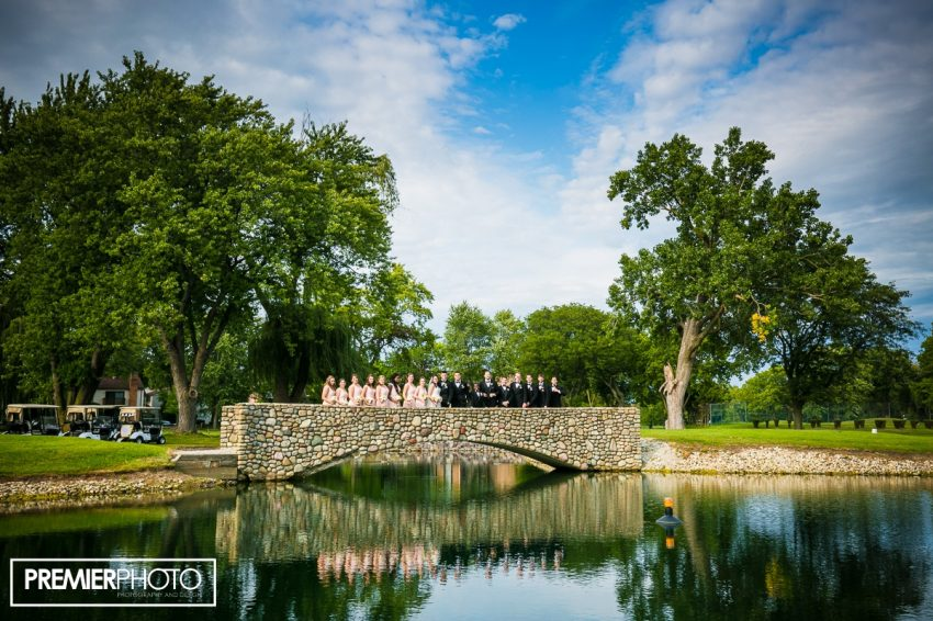 Bridal party on the golf course. Old Orchard Country Club Mt. Prospect Wedding by Premier Photo