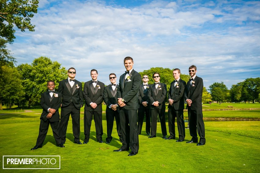 Groom and groomsmen. Old Orchard Country Club Mt. Prospect Wedding by Premier Photo