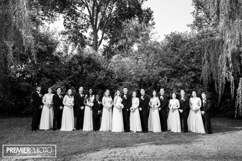 Bridal party. Old Orchard Country Club Mt. Prospect Wedding by Premier Photo