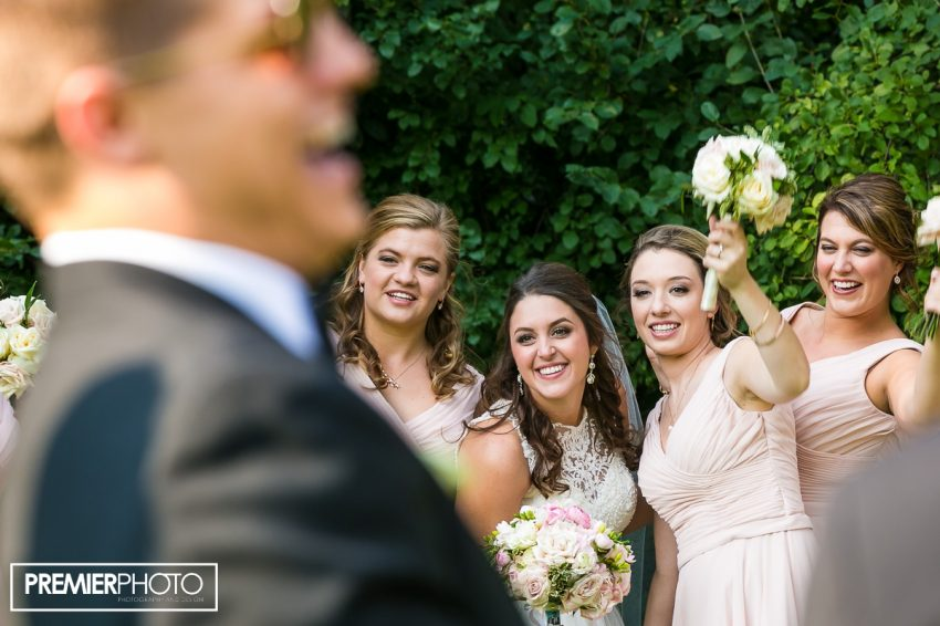 Bridal party having a blast. Old Orchard Country Club Mt. Prospect Wedding by Premier Photo