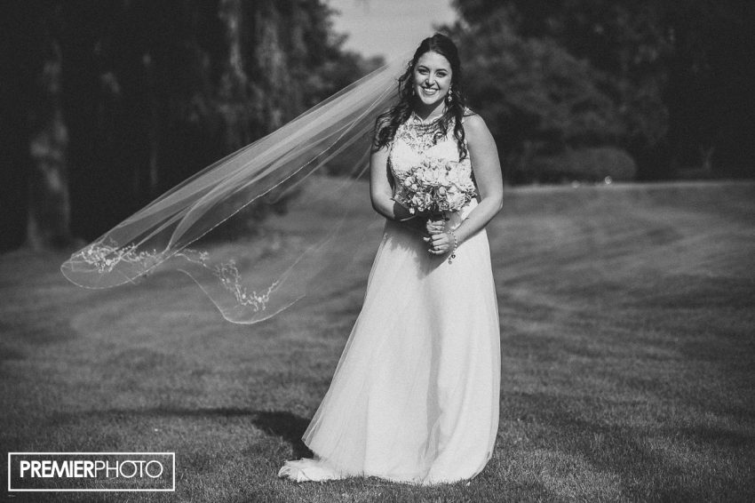 Portrait of a bride. Old Orchard Country Club Mt. Prospect Wedding by Premier Photo