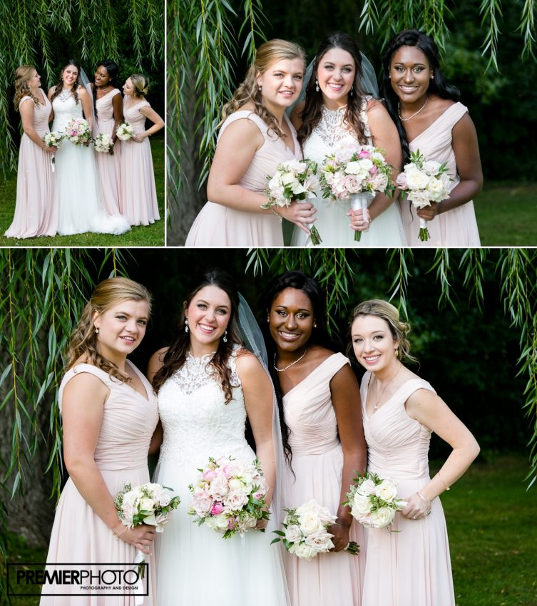 Portrait of Bride and brides maids. Old Orchard Country Club Mt. Prospect Wedding by Premier Photo