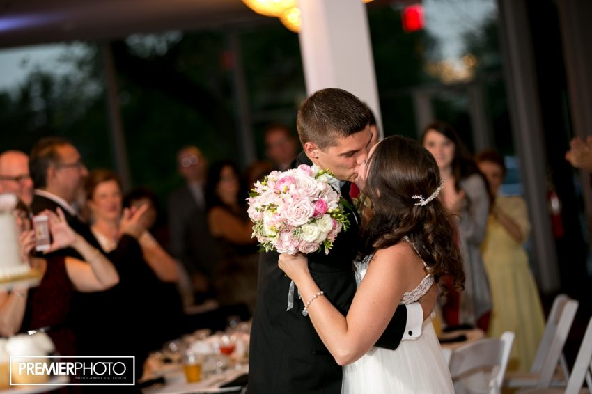 For the first time: Mr and Mrs! Old Orchard Country Club Mt. Prospect Wedding by Premier Photo