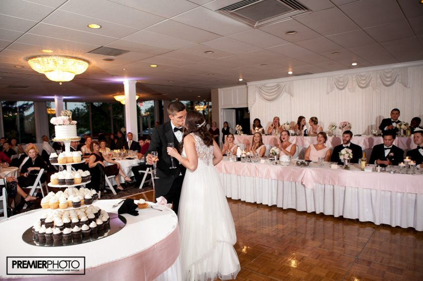 Wedding Cake. Bride and groom. Old Orchard Country Club Mt. Prospect Wedding by Premier Photo