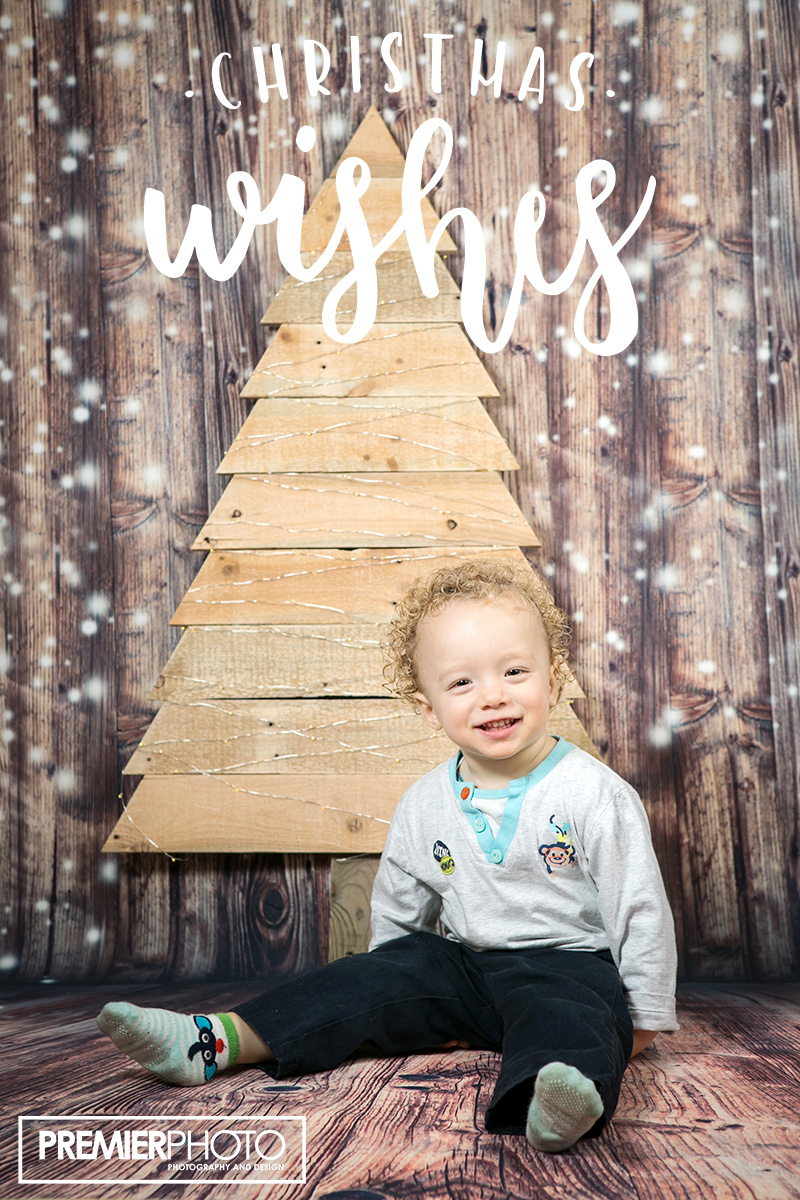 Baby portrait on Christmas Background