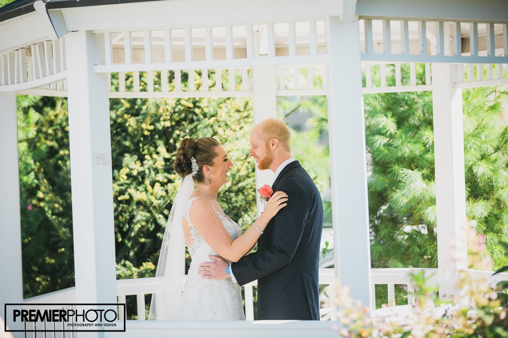 Magical and intimate wedding first look | Hilton, Northbrook IL