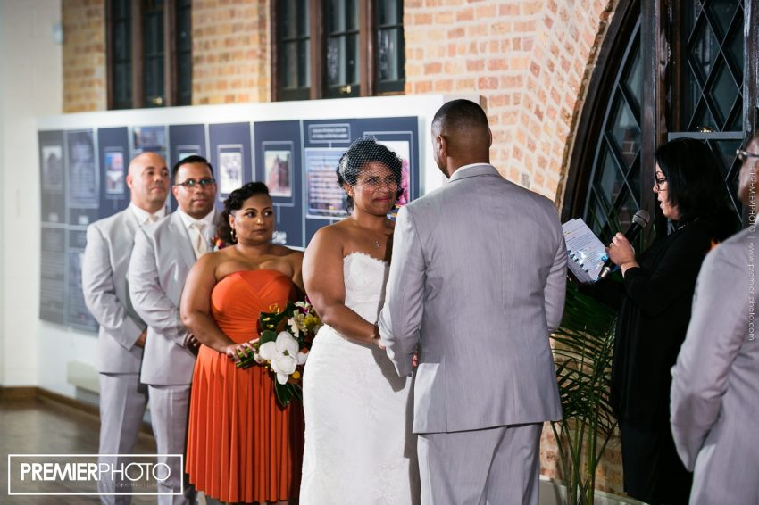 wedding ceremony at National Museum of Puerto Rican Arts & Culture Chicago