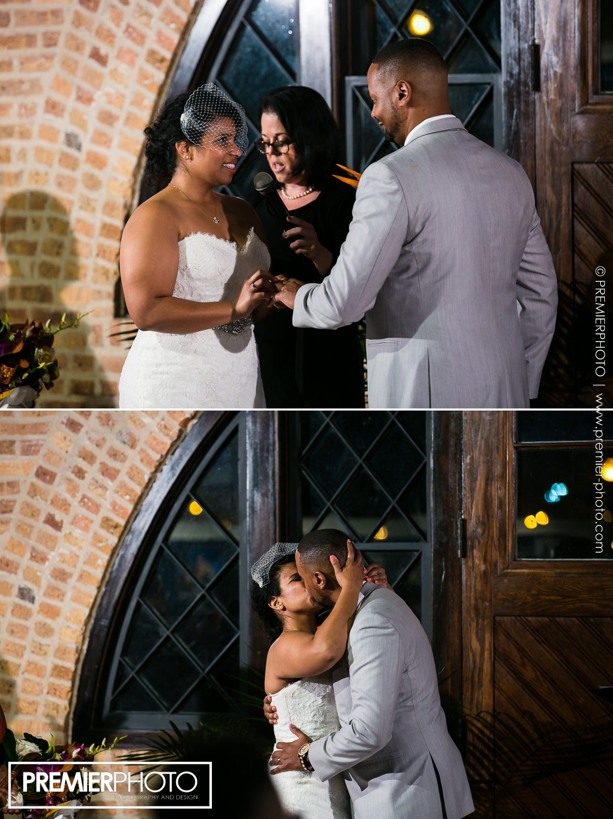 ring exchange at National Museum of Puerto Rican Arts & Culture Chicago wedding ceremony