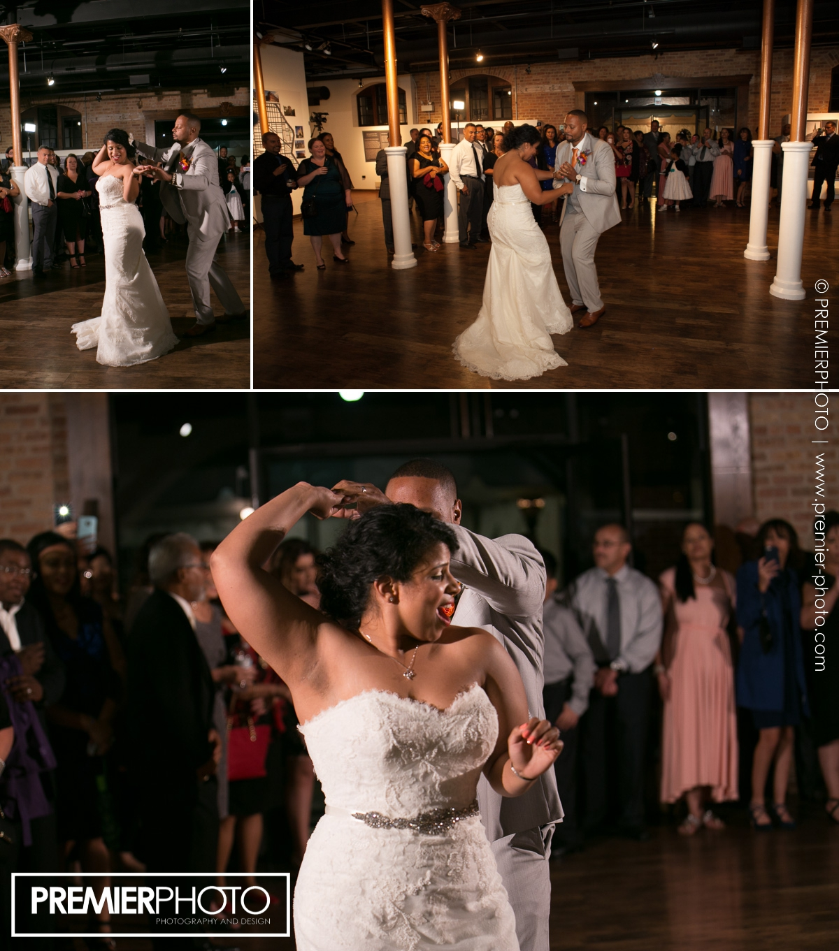 First dance as husbandt and wife at National Museum of Puerto Rican Arts & Culture Chicago