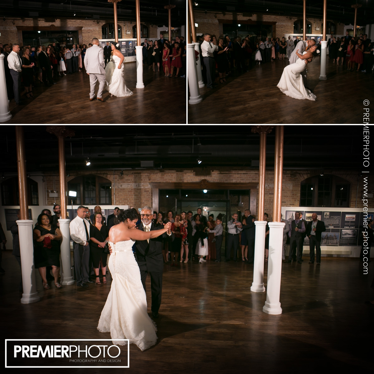 first dance of bride and her father on latino music at National Museum of Puerto Rican Arts & Culture Chicago