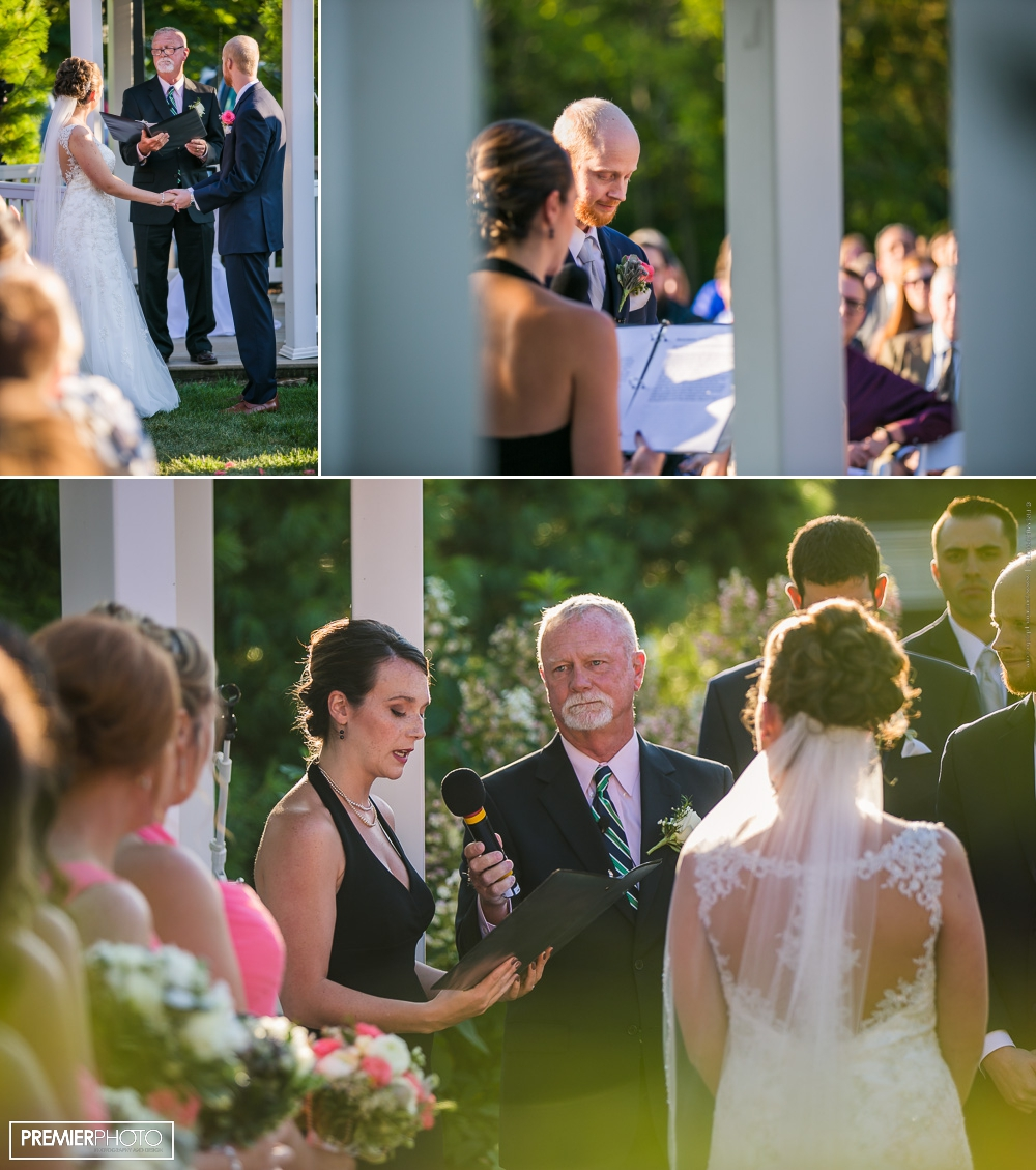 vows reading - exceptional and elegant outdoor wedding ceremony