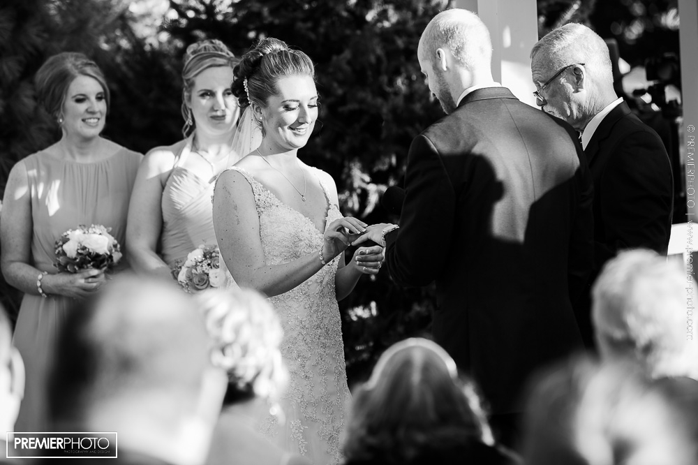 Exceptional outdoor ceremony in black and white by Premier Photo