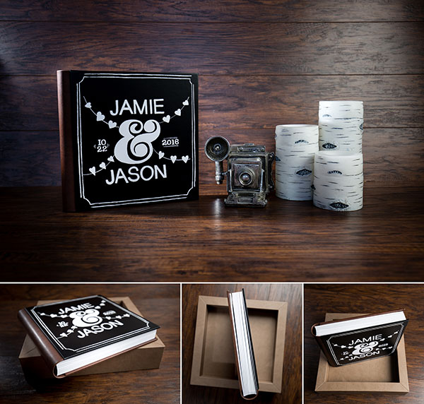 Elegant and innovative wedding, engagement of family photo album by Premier Photo